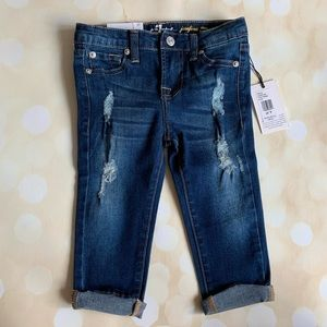 🚫SOLD🚫 7FAM NWT distressed jeans